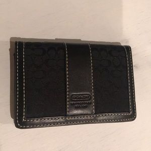 AUTHENTIC COACH CARD HOLDER BLACK